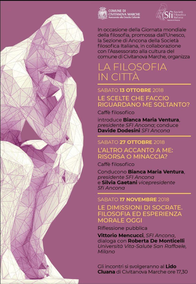 Sezione di Ancona - La filosofia in città (in occasione della giornata mondiale della filosofia)