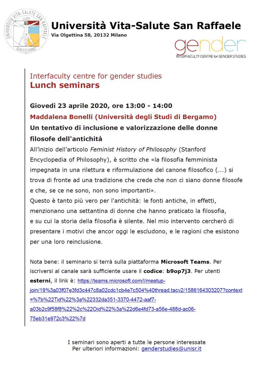 Sezione Lombarda - Incontro con Maddalena Bonelli: