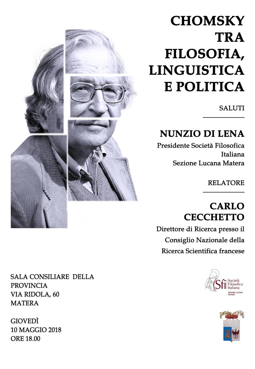 Sezione Lucana di Matera - CHOMSKY TRA FILOSOFIA, LINGUISTICA E POLITICA