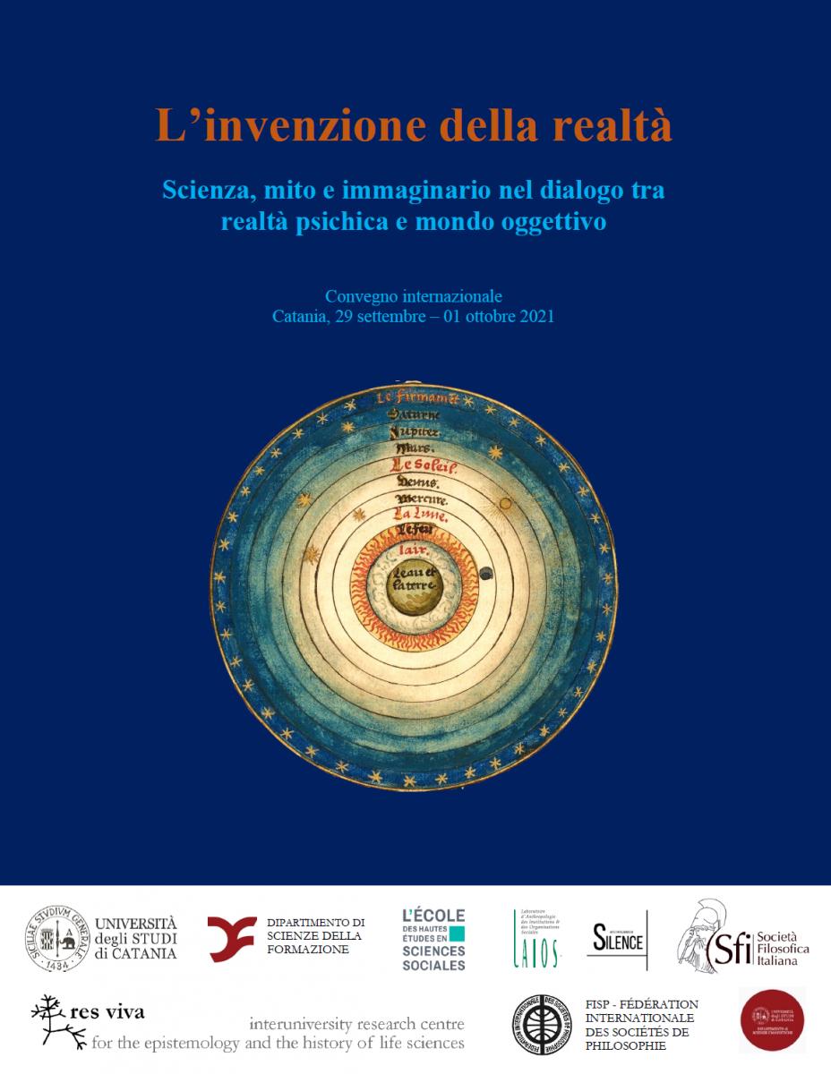 Convegno internazionale: L'invenzione della realtà - Scienza, mito e immaginario nel dialogo tra realtà psichica e mondo oggettivo