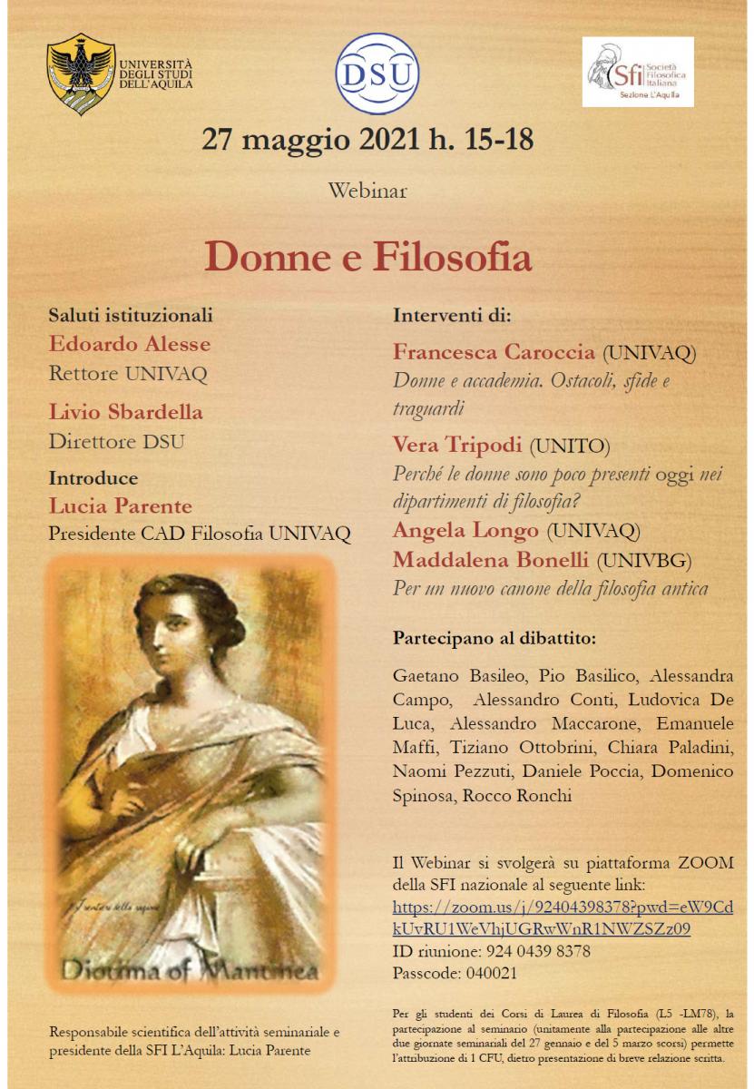 Sezione L'Aquila - Webinar: Donne e Filosofia