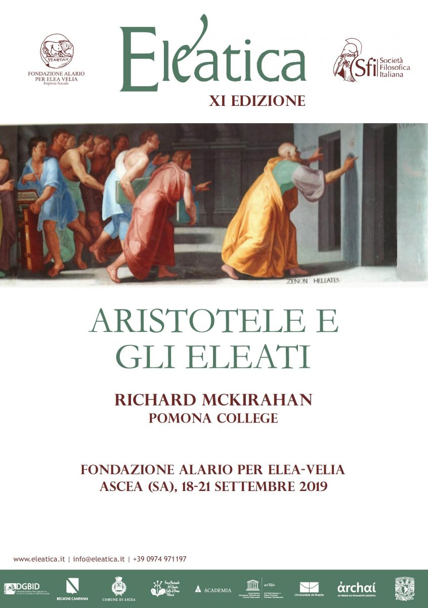 Eleatica XI EDIZIONE: Aristotele e gli Eleati