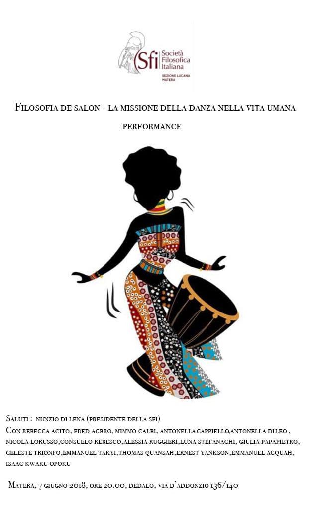 Sezione Lucana di Matera - Filosofia de salon: La missione della danza nella vita umana