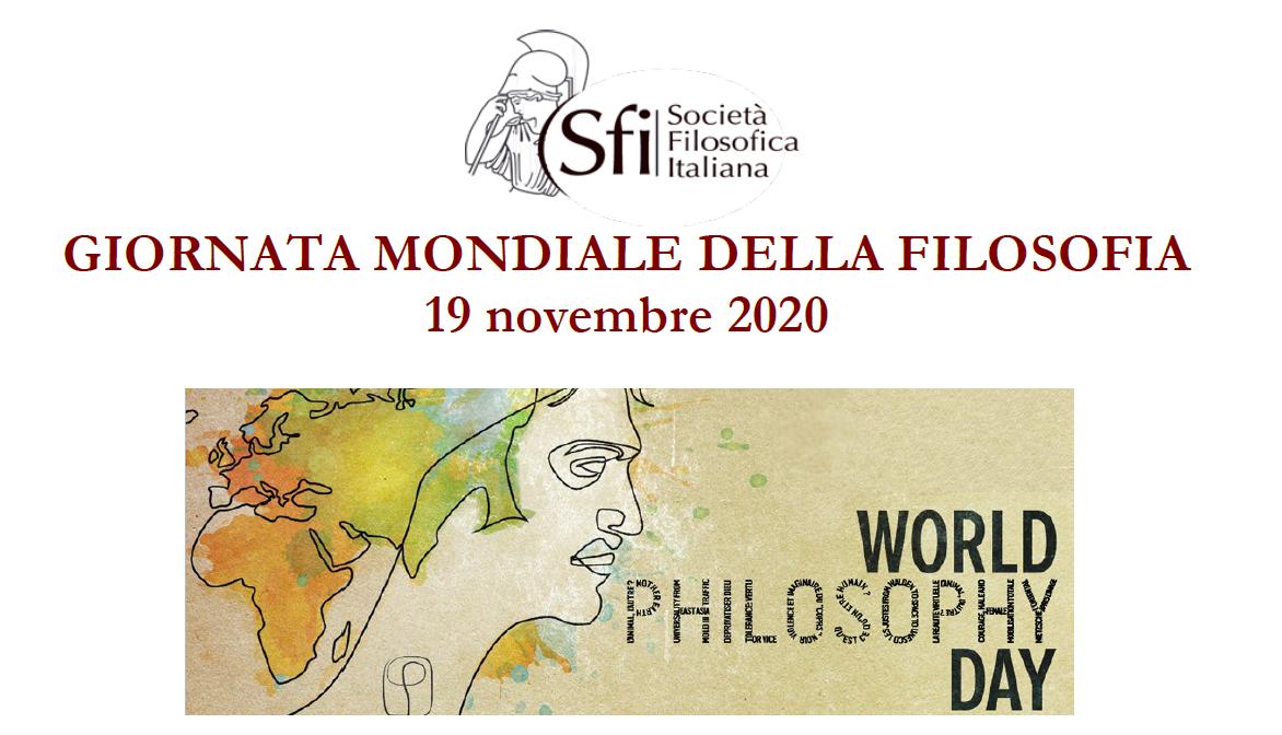 LA SFI PER LA GIORNATA MONDIALE DELLA FILOSOFIA (19 novembre 2020)