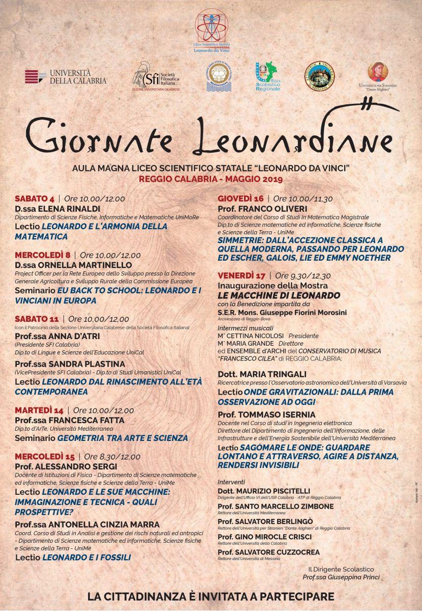 Sezione Universitaria Calabrese: Giornate Leonardiane