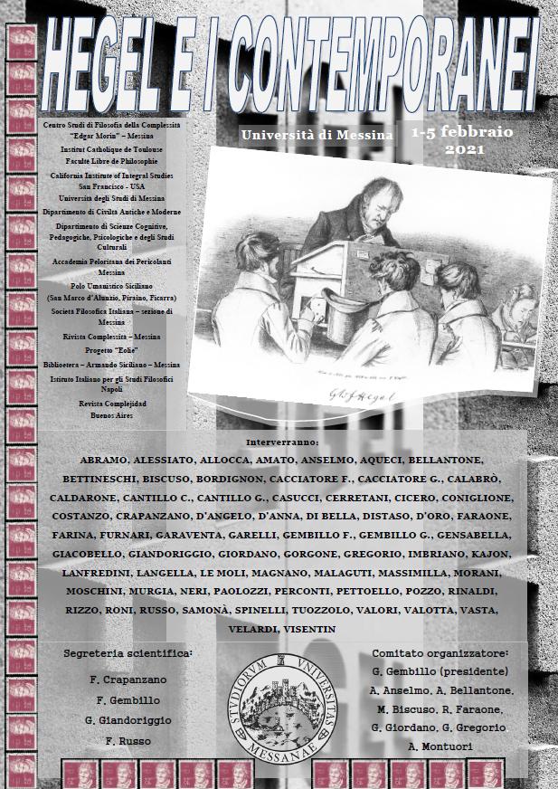 Sezione di Messina - Convegno internazionale di Studi: Hegel e i contemporanei