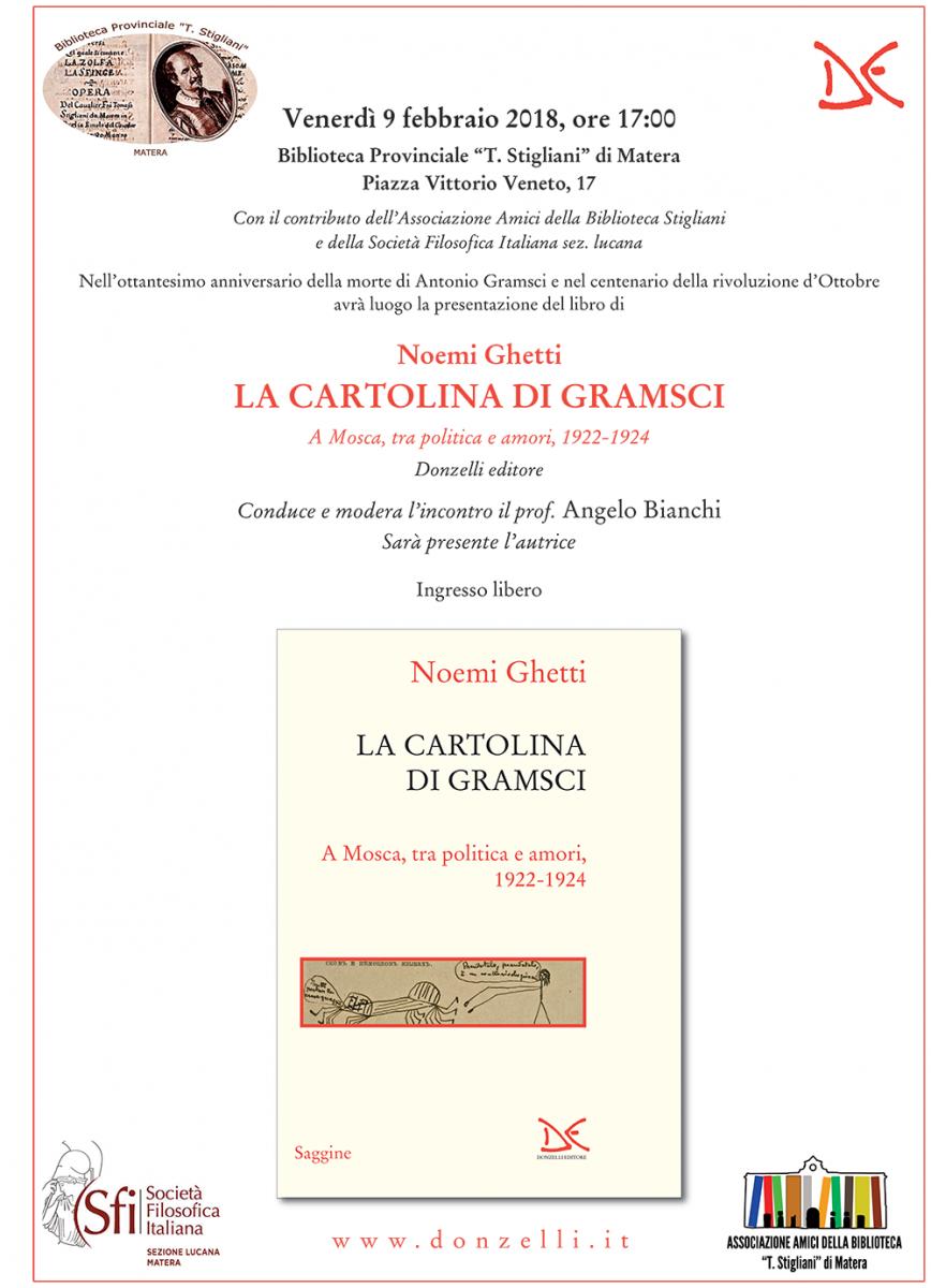 """Sezione Lucana Matera: Presentazione """"La cartolina di Gramsci"""""""