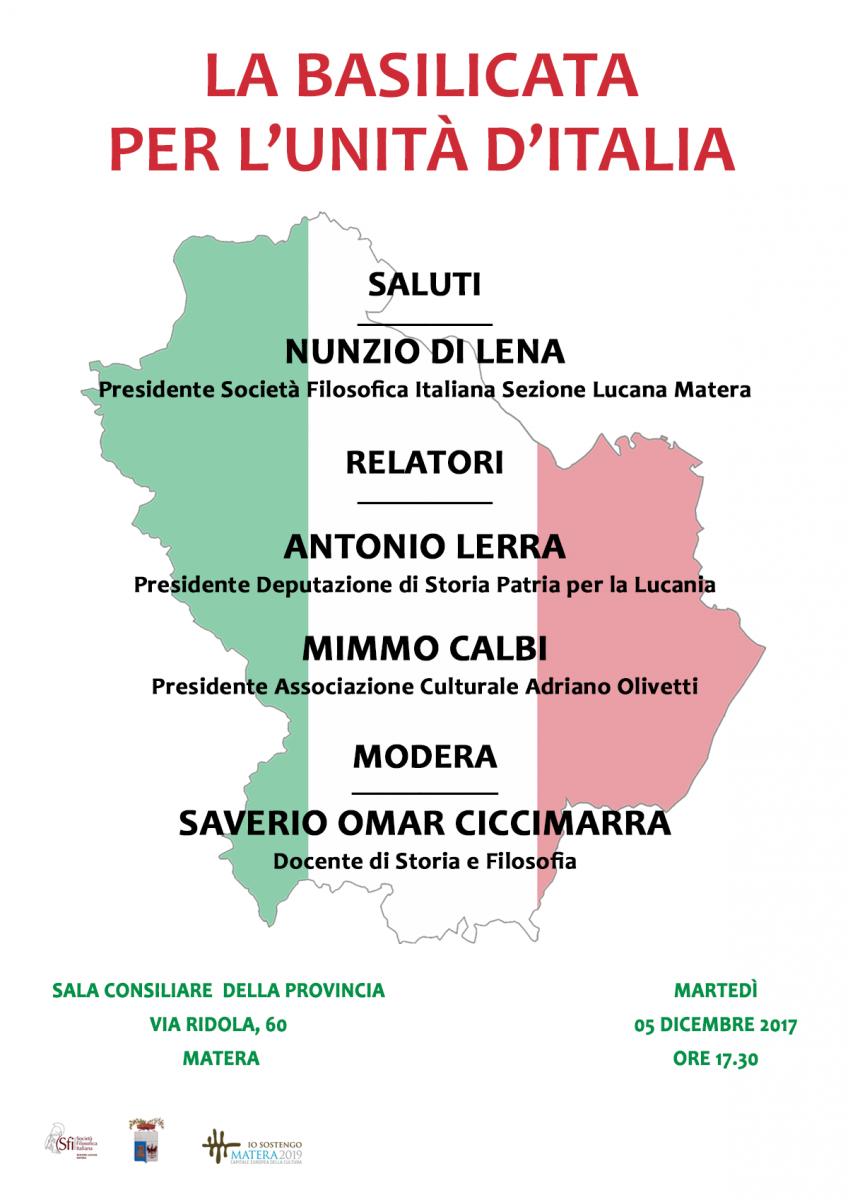 Sezione Lucana Matera: LA BASILICATA PER L'UNITÀ D'ITALIA