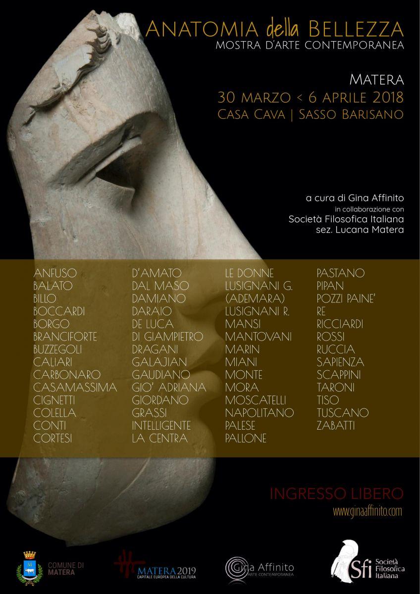 Sezione Lucana Matera: Anatomia della Bellezza - Mostra d'arte contemporanea