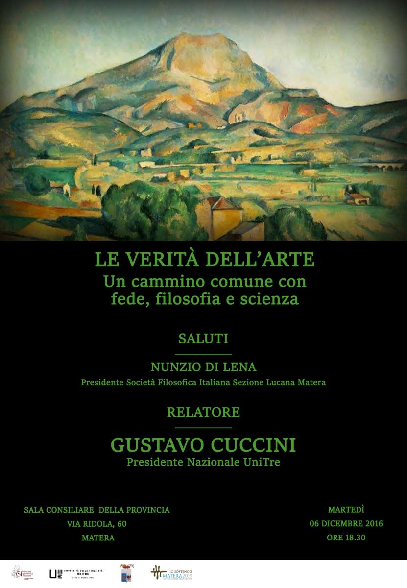 Sezione Lucana - Matera - LE VERITÀ DELL'ARTE UN CAMMINO COMUNE CON FEDE, FILOSOFIA E SCIENZA