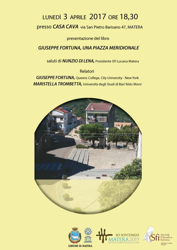 Sezione Lucana di Matera - Convegno: Una piazza meridionale - Riflessioni critiche sull'evoluzione di luoghi d'incontri e di racconti