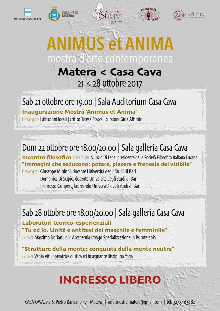 Sezione Lucana Matera: Animus et Anima mostra d'arte contemporanea