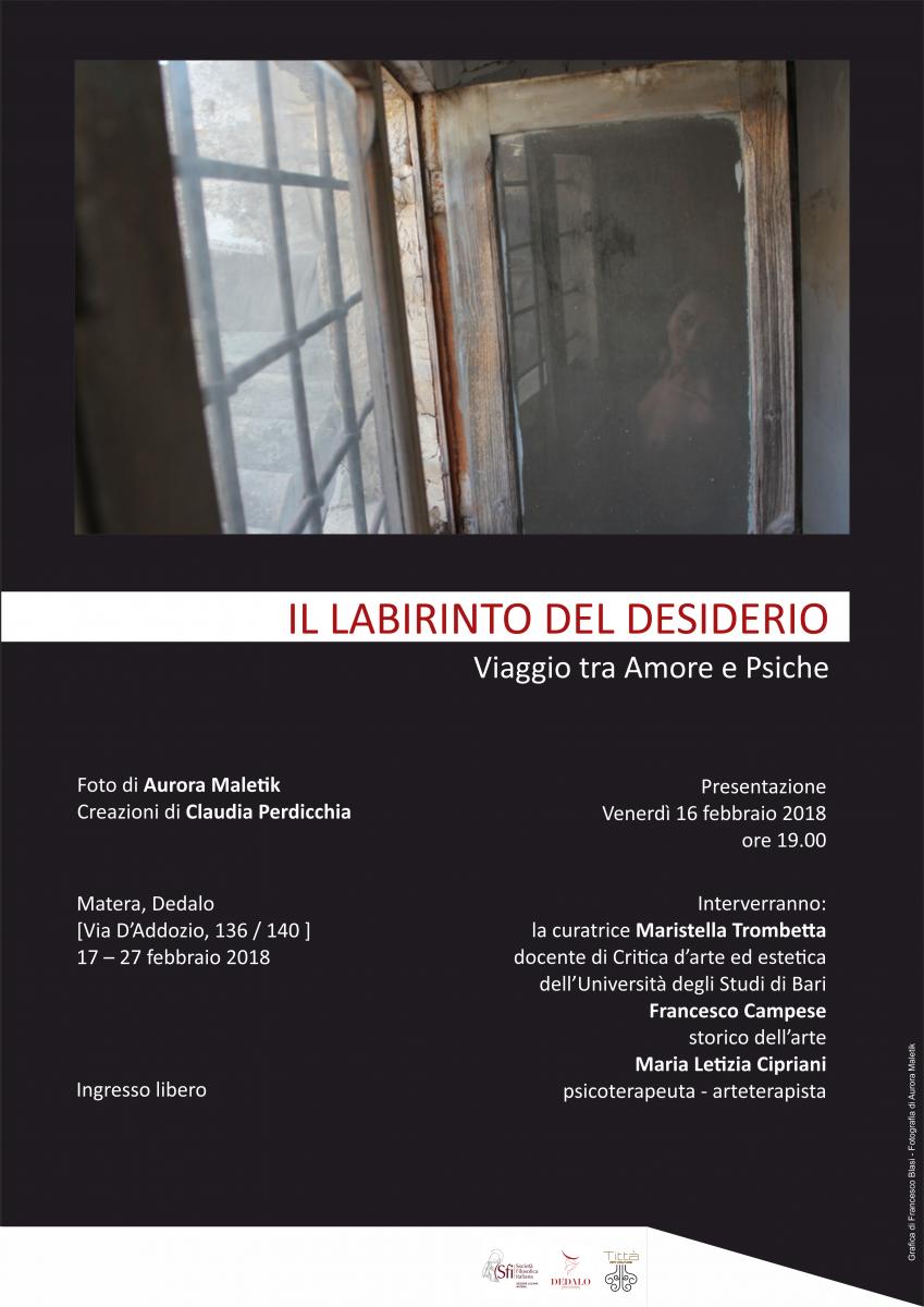 Sezione Lucana Matera: IL LABIRINTO DEL DESIDERIO. VIAGGIO TRA AMORE E PSICHE