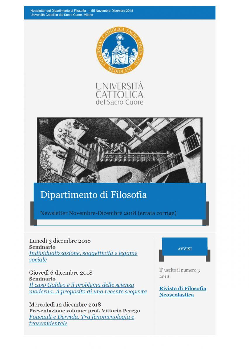Unicattolica Milano - Newsletter dicembre 2018