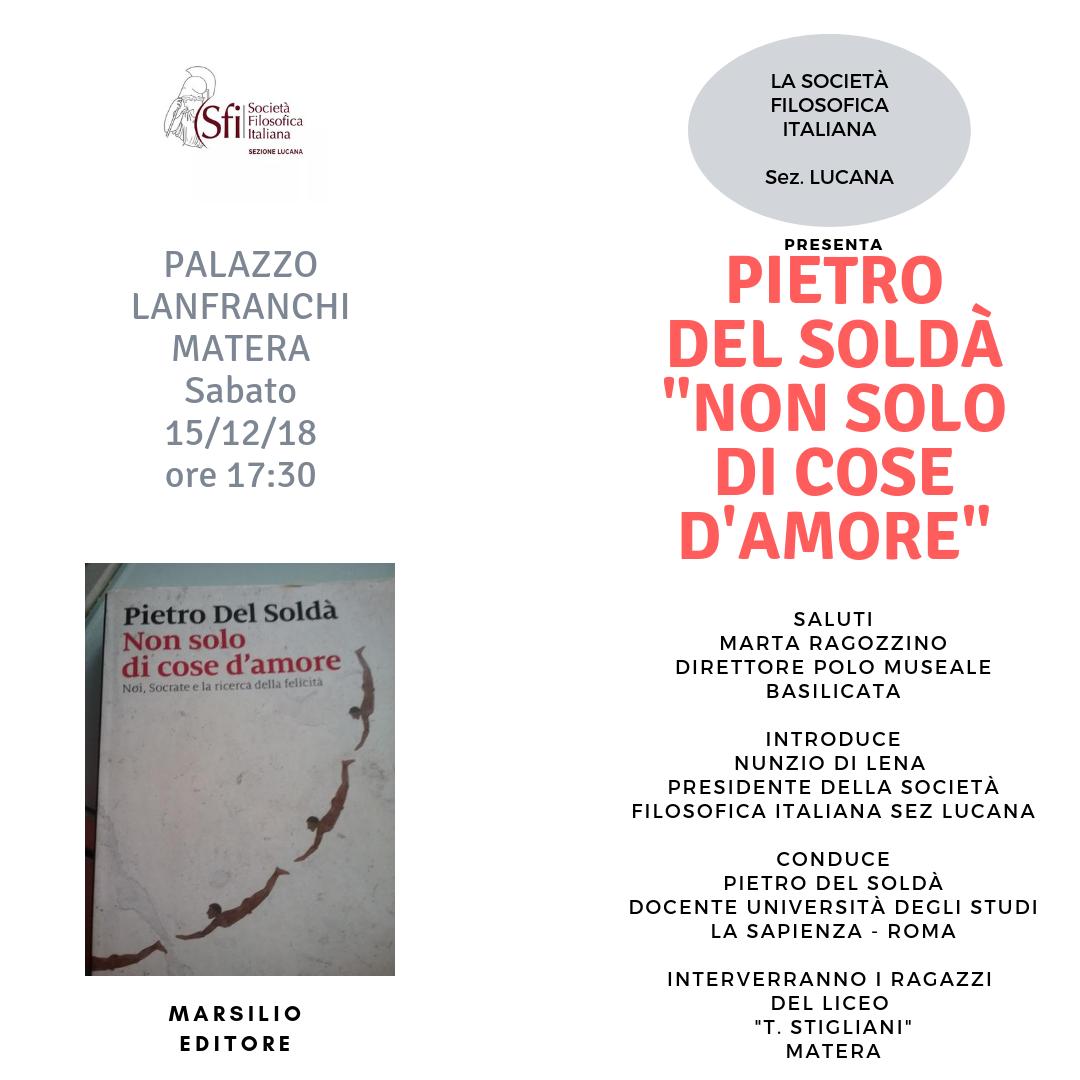 Sezione Lucana di Matera - NON SOLO DI COSE D'AMORE