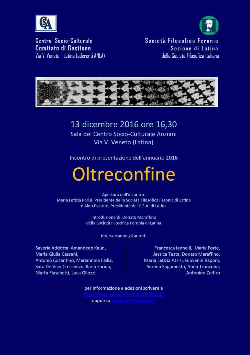 Società Filosofica Feronia di Latina - Oltreconfine