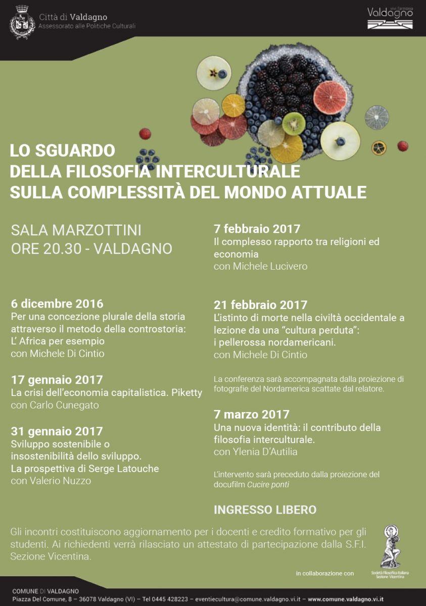Sezione Vicentina - LO SGUARDO DELLA FILOSOFIA INTERCULTURALE SULLA COMPLESSITÀ DEL MONDO ATTUALE