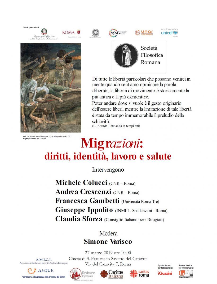 Tavola rotonda. Migrazioni: diritti, identità, lavoro e salute