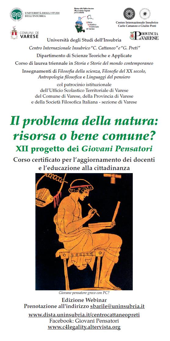 Sezione di Varese - Il problema della natura: risorsa o bene comune? XII progetto dei Giovani Pensatori