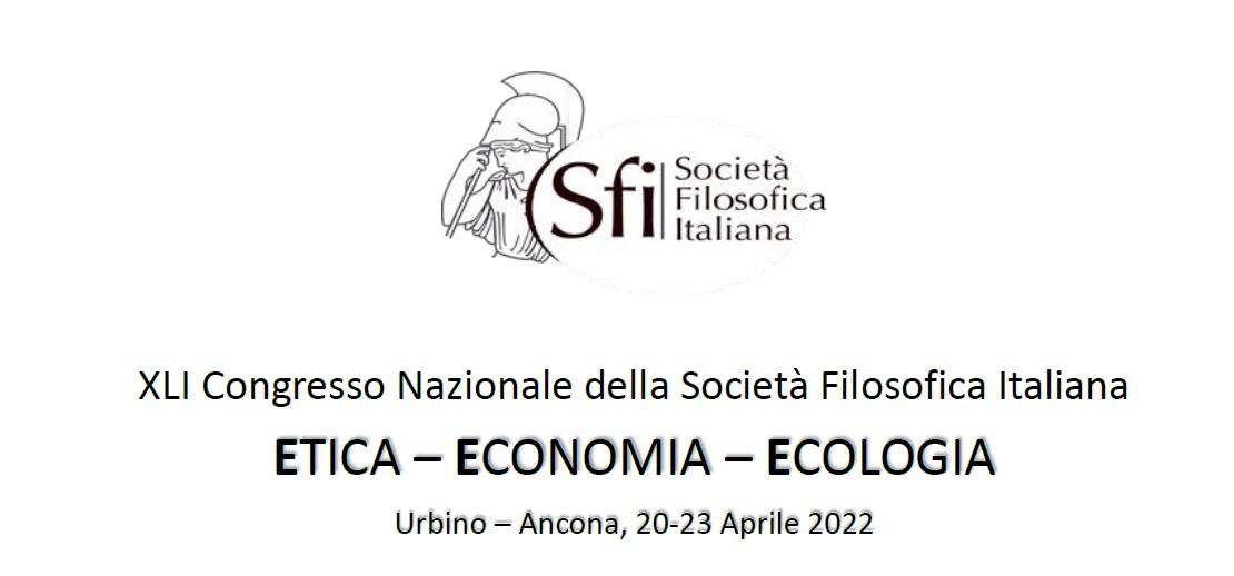XLI Congresso Nazionale della SFI:  Etica, Economia, Ecologia