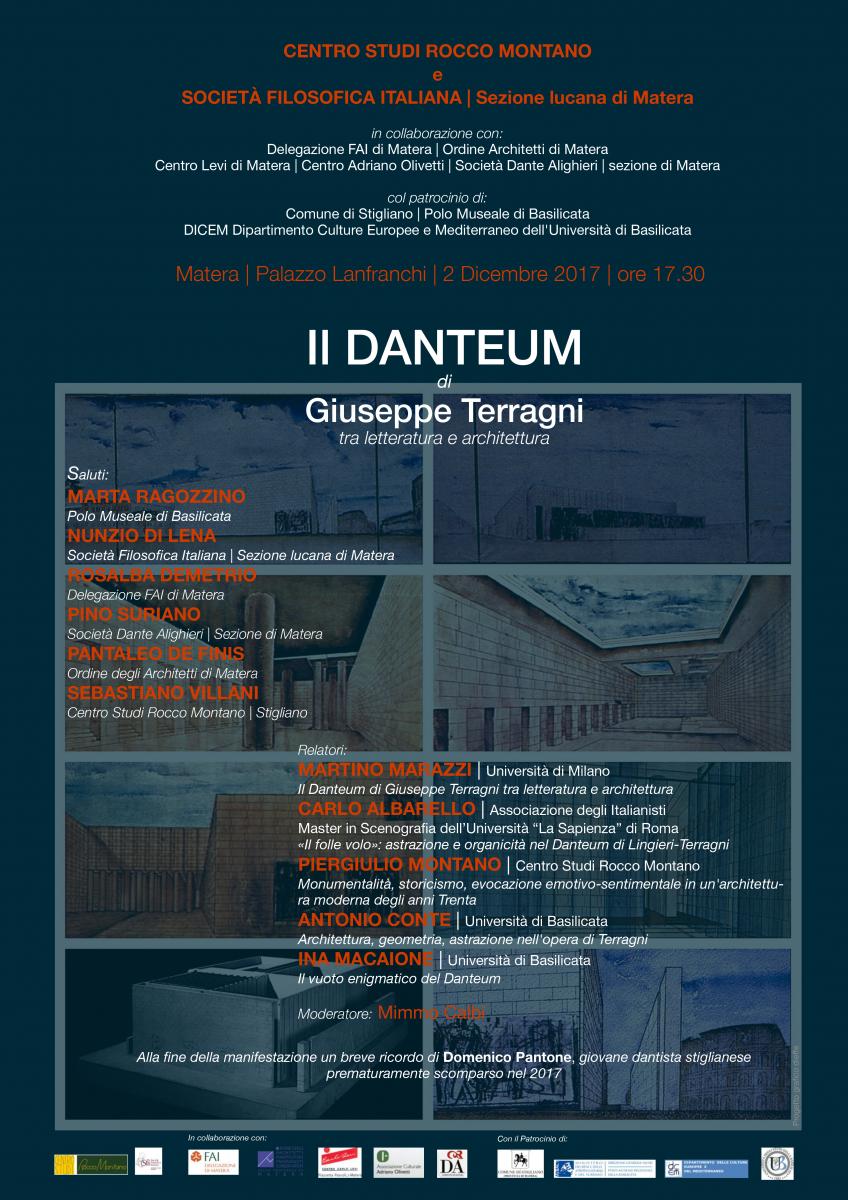 Sezione Lucana Matera: Il DANTEUM di GIUSEPPE TERRAGNI tra LETTERATURA e ARCHITETTURA